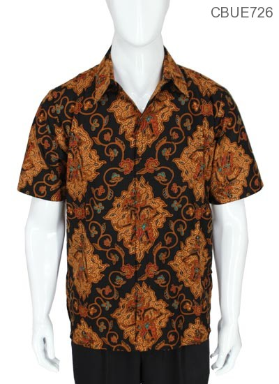Kemeja Pendek Batik Baturaden Motif Cokro Wayang