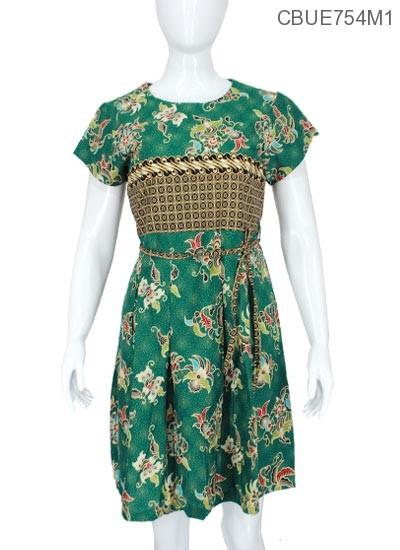 Dress Umaya Katun Motif Bunga