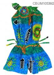 Jumpsuit Anak Motif Tulang Ikan Size L
