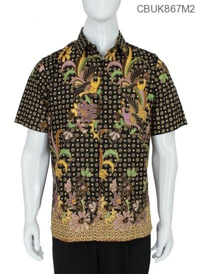 Baju Batik Kemeja Bunga Jago