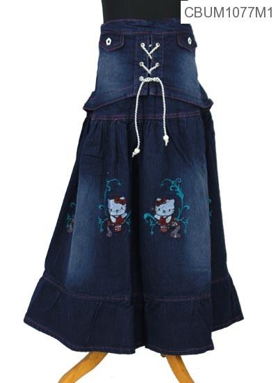 Rok Jeans Anak Kitty Tali