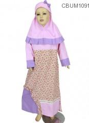 Allizberry Baju Gamis Muslim Anak Pumkin Size 2