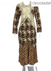 Baju Batik Gamis Motif Sogan