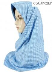 Jilbab Katun Ima Segi Empat Monochrome Geometris