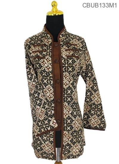 Baju Batik Blus Panjang Katun Motif Sogan