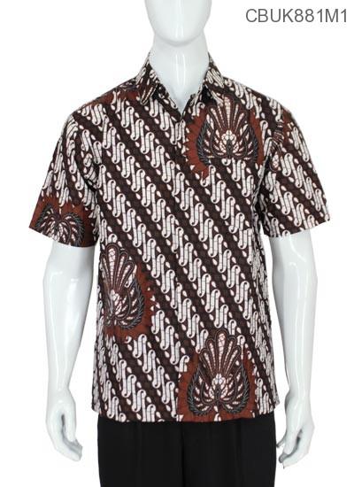 Baju Batik Kemeja Pendek Motif Parang Gurdo