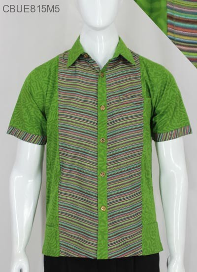 Baju Batik Kemeja Katun Lurik Kemeja Lengan Pendek Murah