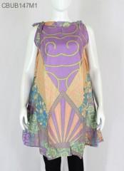 Dress Batik Cantik Tali Motif Sinar Akar
