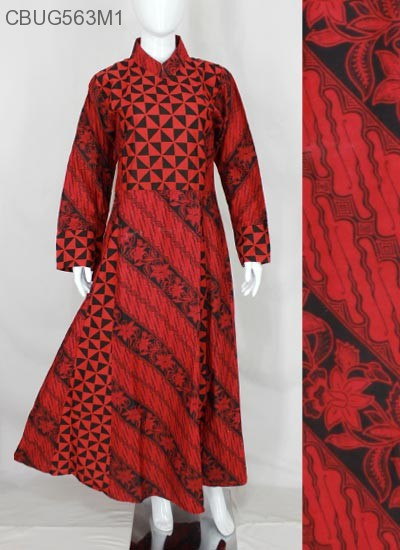 Comfy Syari Dress Batik Merah Dua