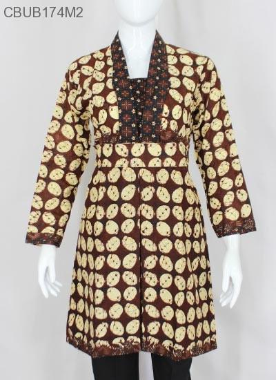 Dress Batik Motif Sogan Klasik