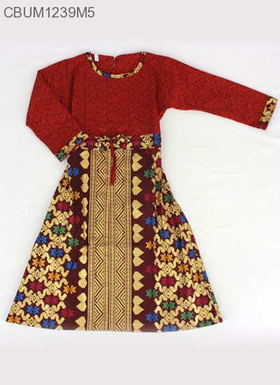 Gamis Anak Songket Size 1 Baju Muslim Anak Murah Batikunik Com
