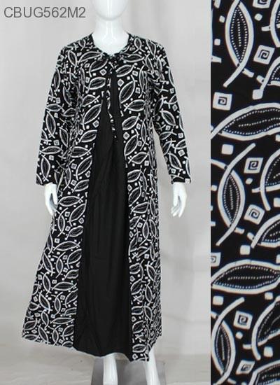 Gamis Cardigan Hitam Putih Klasik Gamis Batik Murah Batikunik Com