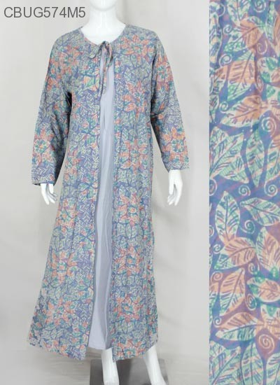 Gamis Cardigan Rayon Warna | Gamis Batik Murah | Batikunik.com