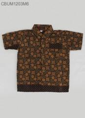 Kemeja Batik Anak Katun Cappucino