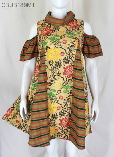 Dress Tunik Nesya Kembang Lurik
