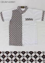 Baju Muslim Koko Anak Motif Kawung Blok