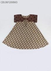 Dress Anak Nina Motif Santoso Sogan Size XL