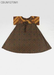 Dress Anak Nina Motif Santoso Colet Size L