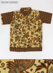 Kemeja Batik Anak Motif Kupu XXL