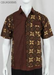 Kemeja Batik Katun Motif Cappucino
