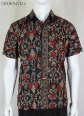 Kemeja Batik Katun Motif Songket Manik