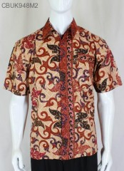 Kemeja Batik Katun Motif Ceplok Jengger