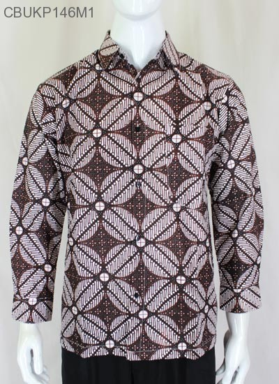 Baju Batik Kemeja Panjang Kawung
