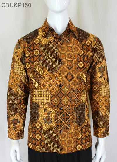 Baju Batik Kemeja Panjang Motif Sekar Jagad
