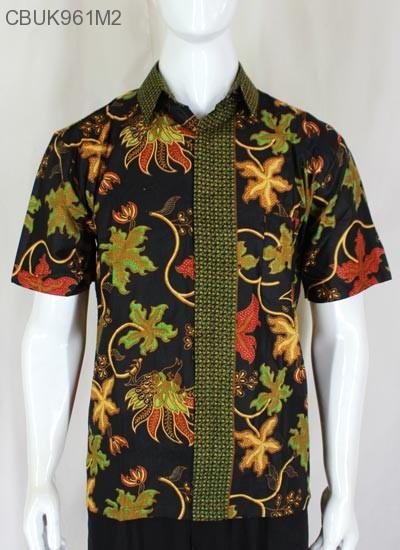 Baju Batik Kemeja Pendek Motif Anggur