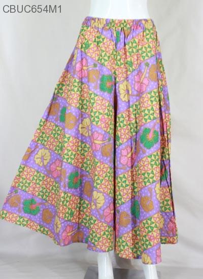 Celana Kulot Motif Bunga Baris