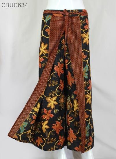 Celana Kulot Rok Batik Katun Motif Anggur Celana Murah Batikunik Com