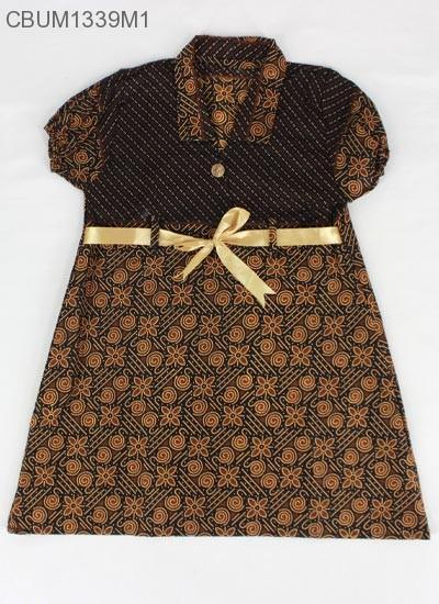 Dress Anak Pias Motif Cappucino Size M