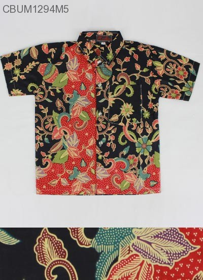 Kemeja Batik Anak Katun Cibulan Gentong