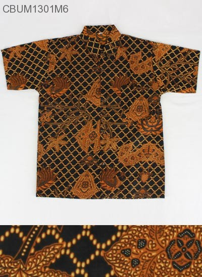 Kemeja Batik Anak Motif Klasik Size XXL