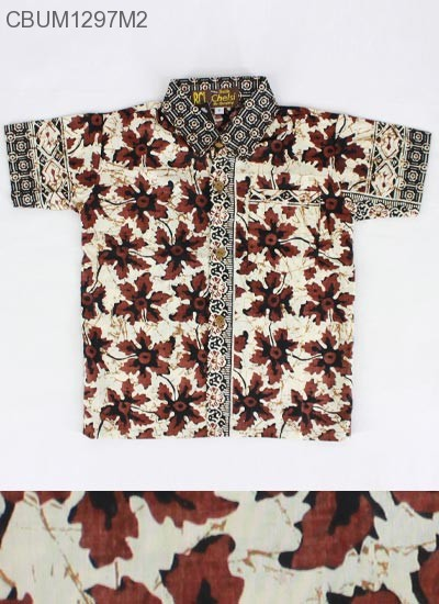 Kemeja Batik Anak Katun Kotemporer Klasik 1