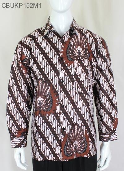 Kemeja Batik Panjang Motif Parang Gurdo