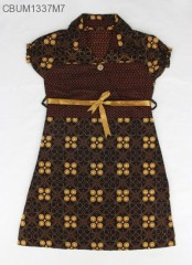 Dress Anak Pias Motif Cappucino Size XL