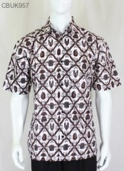 Kemeja Batik Pendek Motif Sidomukti