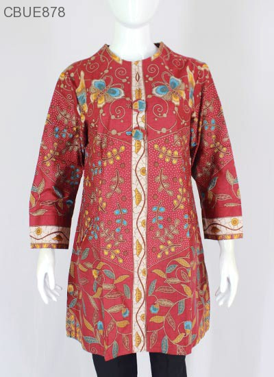 Atasan Wanita Tunik Batik Blarak 9016 | Blus Lengan ...