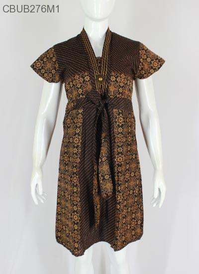 Dress ABG Sekar Batik Motif Cappucino