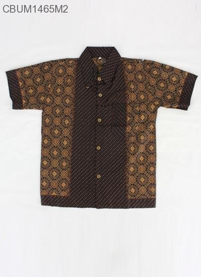Kemeja Batik Anak Motif Cappucino Size 6