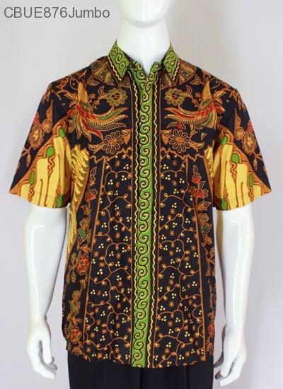 Kemeja Batik Jumbo Pendek Blarak 9109