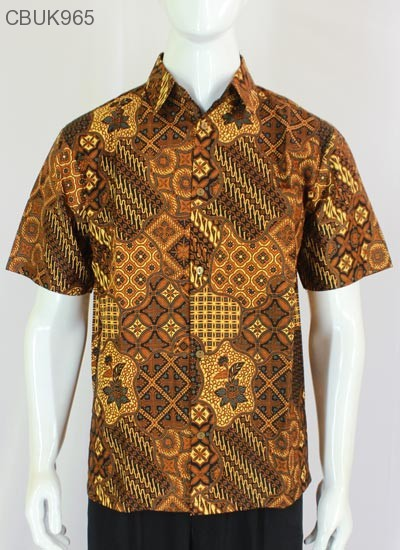 Kemeja Batik Pendek Motif Sekar Jagad