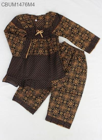 Setelan Anak Muslim Motif Cappucino Size L