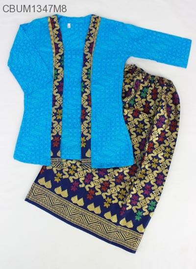 Setelan Kartini Kutubaru Anak Batik Songket Prrada (2)