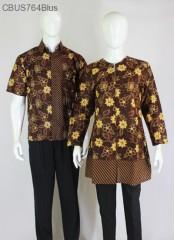 Baju Batik Sarimbit Blus Motif Mawar