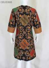 Tunik Dress Batik  Blarak Coklat 9029
