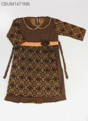 Gamis Batik Anak Cappucino Size XL