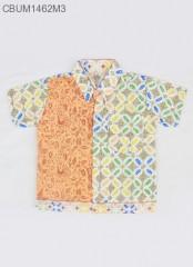 Kemeja Batik Anak Motif Kawung Size S