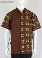 Kemeja Batik Pendek  Cappucino